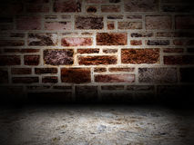 Urban Grunge Abstract Interior Brick and Stone Wall Stage Background Texture Royalty Free Stock Photography