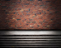 Urban Grunge Abstract Interior Brick Wall Stage Background Texture Stock Images