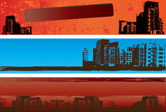 Urban Grunge Banners Stock Photography
