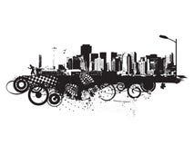 Urban grunge city Stock Photography