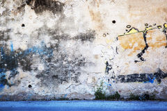 Urban Grunge - Colorful Wall Grafitti Background Texture. Royalty Free Stock Photography