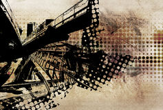 Urban grunge design. Urban scene grunge design illustration Royalty Free Stock Images