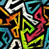 Urban grunge geometric seamless pattern Stock Photography