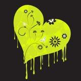 Urban grunge heart. Vector trendy urban grunge flower heart Royalty Free Stock Images