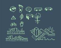 Urban hand drawn vector drawings and icons Royalty Free Stock Photos