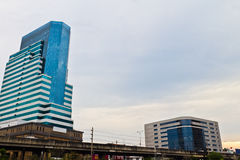 Urban high-rise building in the evening. Stock Photography