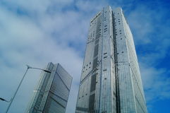 Urban high-rise building landscape Royalty Free Stock Images