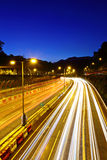 Urban highway at night Royalty Free Stock Photo