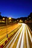 Urban highway at night royalty free stock photo