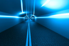 Urban highway road tunnel. Abstract speed motion in urban highway road tunnel Royalty Free Stock Photo