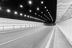 Urban highway road tunnel Royalty Free Stock Images