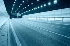 Urban highway road tunnel Royalty Free Stock Photography