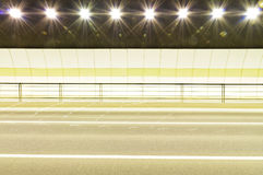 Urban highway road tunnel background Royalty Free Stock Photo
