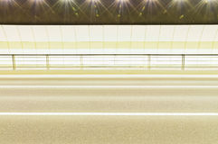 Urban highway road tunnel background Stock Image
