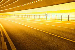 Urban highway road tunnel Stock Image
