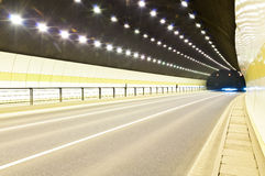 Urban highway road tunnel Stock Photo