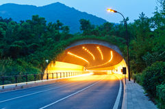 Urban highway road tunnel in hangzhou Stock Image