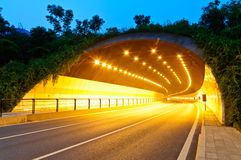 Urban highway road tunnel in hangzhou Royalty Free Stock Images