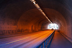 Urban highway road tunnel Royalty Free Stock Photos