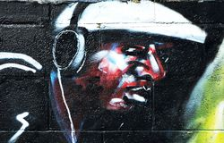 Urban, hip-hop graffiti Stock Image