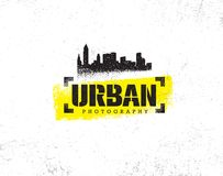 Urban Hipster Photography Contest Rough Rustic Vector Design Element. Creative Illustration On Grunge Background.  Royalty Free Stock Photos