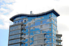 Urban house or building, facade pattern. Smart apartments. Apartment building. Royalty Free Stock Photography