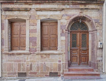 Urban house entrance, Chios island, Greece Royalty Free Stock Images