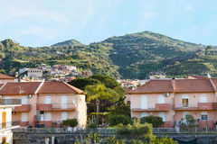 Urban houses in comune Gaggi in Sicily, Italy Royalty Free Stock Photo
