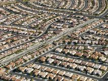 Urban housing sprawl. stock photography
