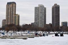 Urban Ice Fishing Royalty Free Stock Photo