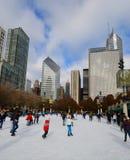Urban Ice Skating Stock Photo