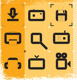 Urban icons for media Royalty Free Stock Photography