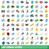 100 urban icons set, isometric 3d style. 100 urban icons set in isometric 3d style for any design vector illustration vector illustration