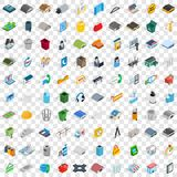 100 urban icons set, isometric 3d style. 100 urban icons set in isometric 3d style for any design vector illustration Stock Photo