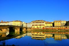 Urban illusions in Florence city , Italy Stock Photos