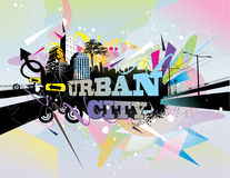 Urban illustration Royalty Free Stock Photography