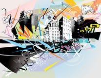 Urban illustration Stock Image