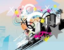 Urban illustration Stock Images