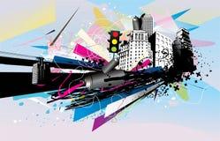 Urban illustration Royalty Free Stock Photography