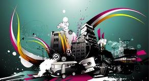Urban  illustration Stock Photography