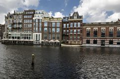 View of Amsterdam canal with old houses