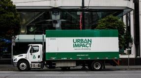 Urban Impact, Secure Shredding, Vancouver, BC. Stock Photo