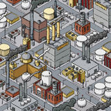 Urban Industrial Zone Royalty Free Stock Photo