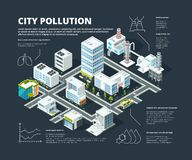 Urban infographic. Business concept people population megapolis transportation buildings street isometric city map vector illustration