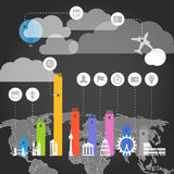 Urban infographic elements collection Royalty Free Stock Images