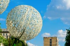 Urban installation large dandelion. Stock Photography
