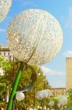 Urban installation large dandelion. Royalty Free Stock Images