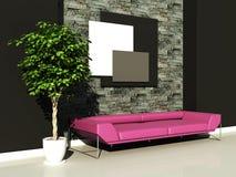 Urban interior. 3d generated render of urban interior design Stock Images