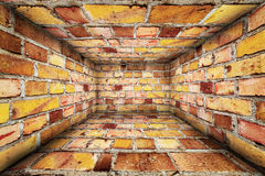 Urban Interior Brick Walls Stage Background Stock Image
