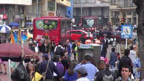 Urban Intersection, Traffic, Pedestrians. Stock video of an intersection stock video